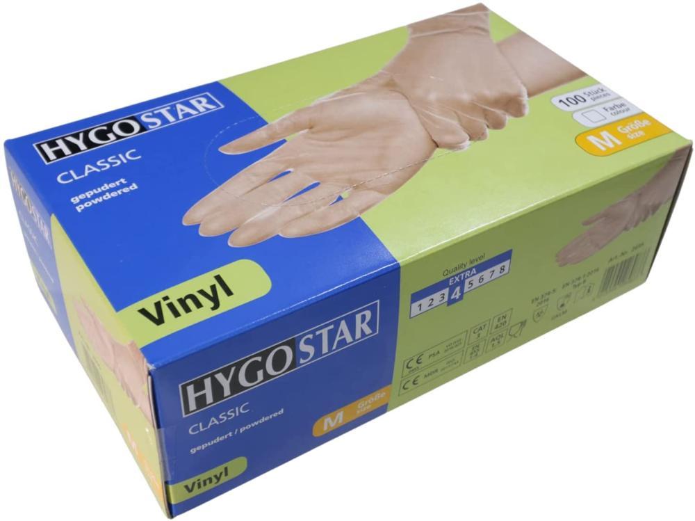 HYGOSTAR Vinyl Hygienehandschuhe CLASSIC M